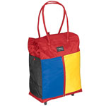 Shopping tote with wheels